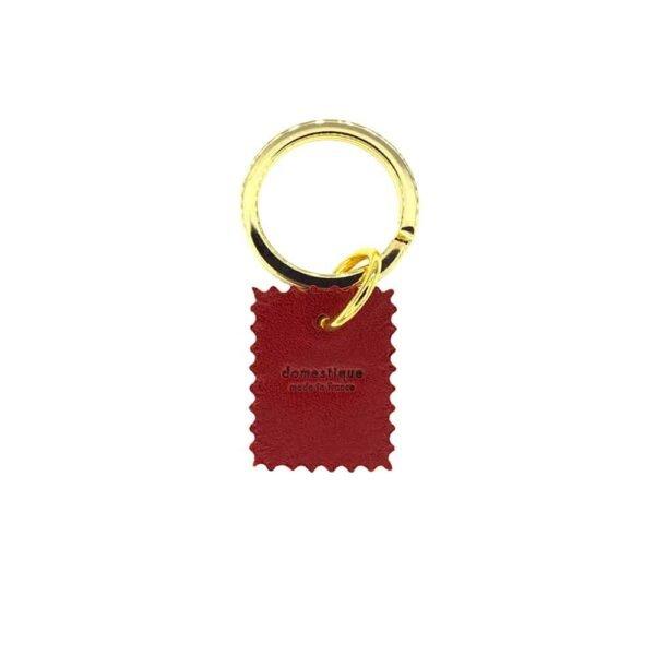 Porte Clef rouge gravé, noir et doré de DOMESTIQUE chez BRIGADE MONDAINE