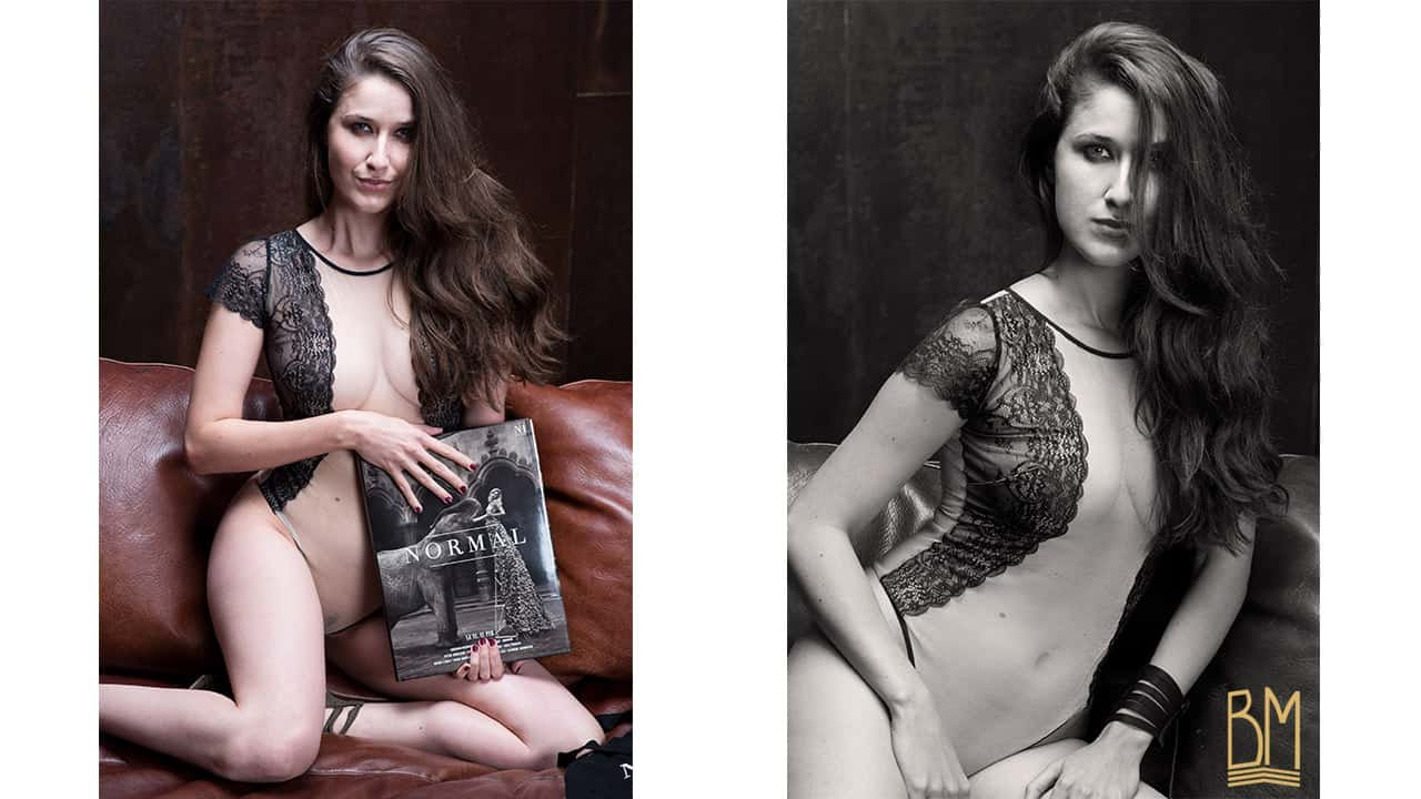 Nephael by Martial Lenoir for Normal Magazine Paris, Brigade Mondaine lingerie