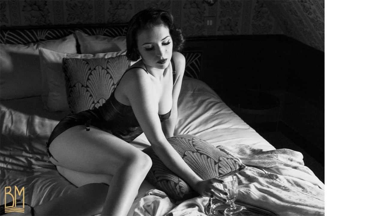 Cléa De Velours par Solène Ballesta pour Brigade Mondaine - Bordelle lingerie