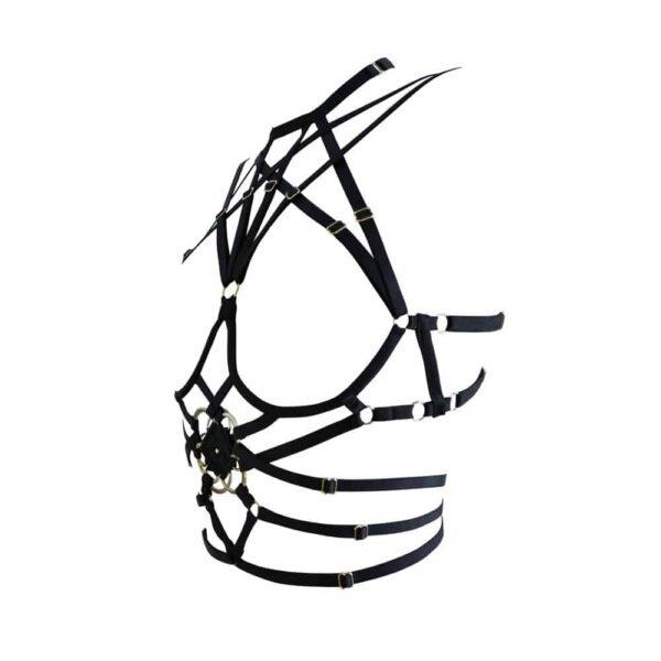 Семя Лайф нагрудный жгут в черном атласном эластичном цвете под грудью 1ТП17Т
