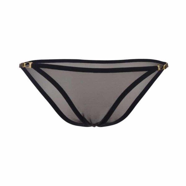 Culotte en tulle noir et détails de fermoirs boutons sur les côté gamme insoutenable légèreté par atelier amour chez Brigade Mondaine