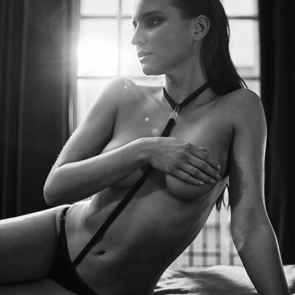 Black Satin and Elastic Harness Briefs Please Me by Atelier Amour at Brigade Mondaine