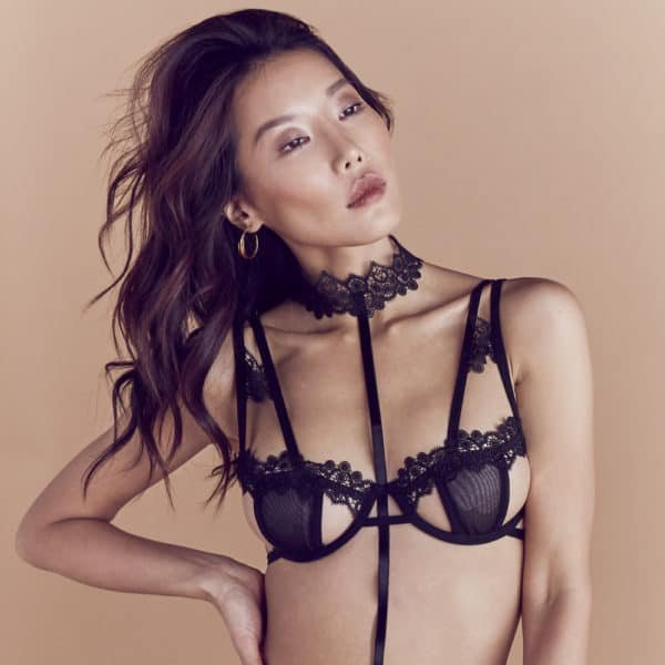 Bra Carmen with tulle and lace by Bluebella at Brigade Mondaine