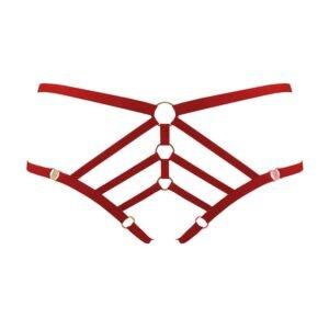 Bragas elásticas abiertas rojas BORDELLE Art Deco en Brigade Mondaine