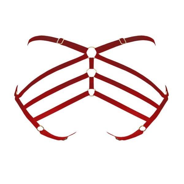 Красные эластичные шорты BORDELLE в стиле арт-деко в Бригаде Мондэн