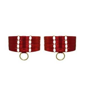 Ligas de bondage rojo de Bordelle Signature a Brigade Mondaine rango