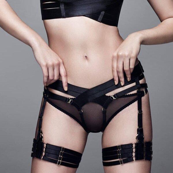 Широкий эластичный ремень подтяжки шорты черного цвета на 1ТП9Т на 1ТП5Т