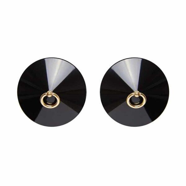 Черные соски с золотым центральным кольцом БОРДЕЛЬ на 1ТП5Т