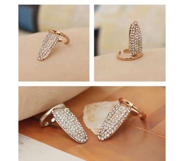 Brigade Mondaine кольцо d' золотые гвозди со стразами