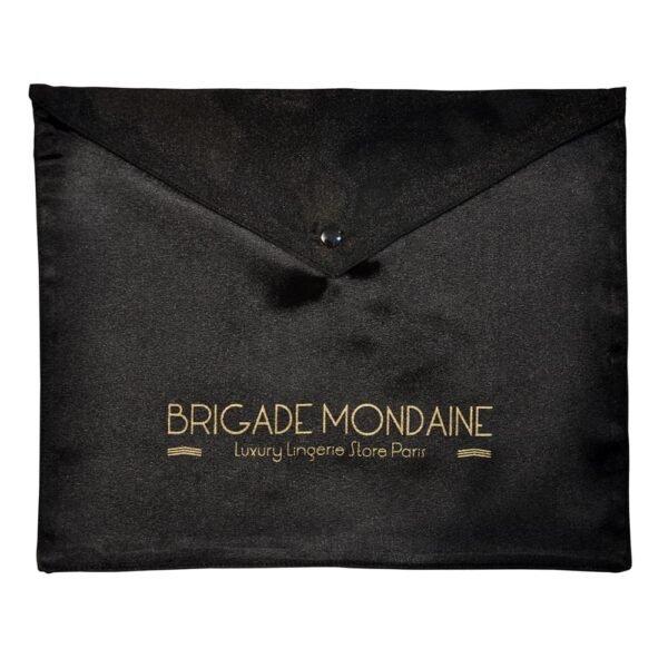Black silk gift bag Brigade Mondaine