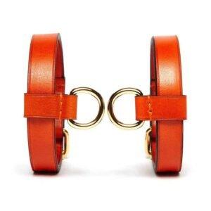 Кожаный браслет Оранжевый домашний