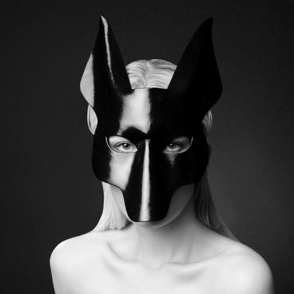 Erotic mask Anubis black by E.L.F Zhou London at Brigade Mondaine
