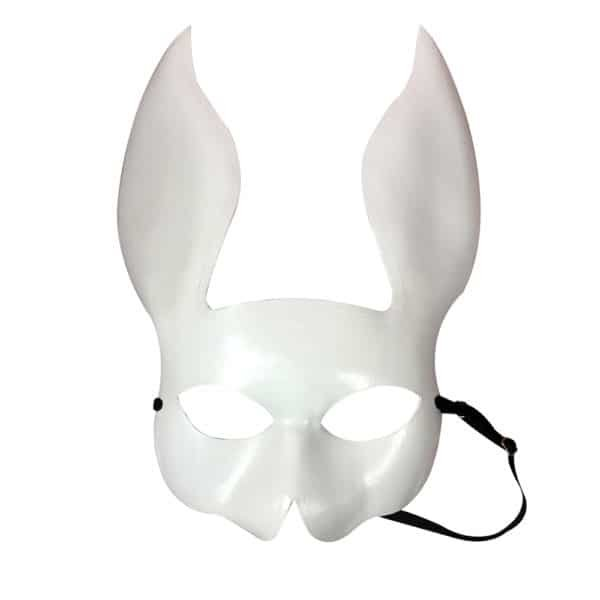 White rabbit mask in vegetable leather by ELF ZHOU at Brigade Mondaine