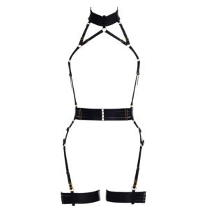 Playsuit Alivia black elastic. Removable garters. Flash You And Me on Brigade Mondaine