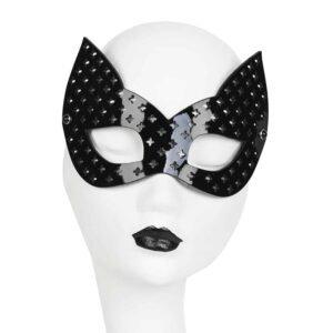 Черная лакированная кожаная маска кошки перфорированный крест Оригинал Нерона Греха FRAULEIN KINK на Brigade Mondaine