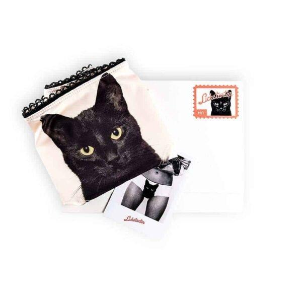 Опытный истребитель черные кошачьи трусики от Lickstarter на Brigade Mondaine