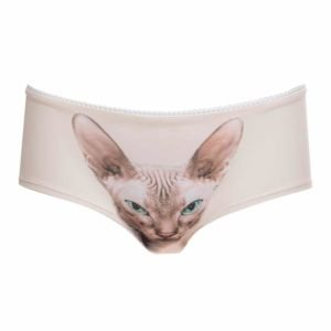 Naked Ninja Panties with Green-Eyed Sphynx by Lickstarter on Brigade Mondaine