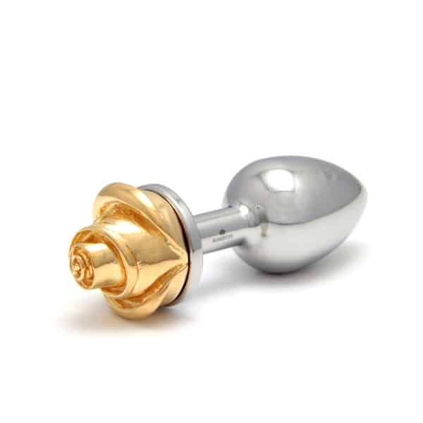 РОЗЕБУДЫ при 1ТП5Т розовое золото в хирургической стали с золотой розой