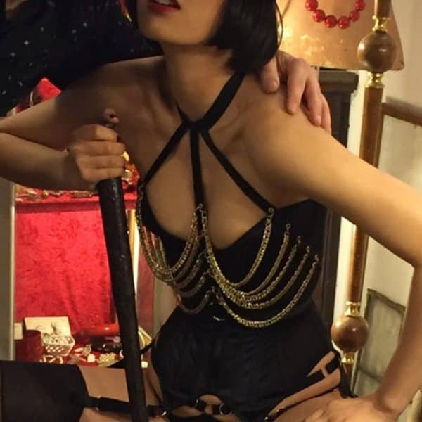 Gold Chain Strapless Harness by The Model Traitor at Brigade Mondaine