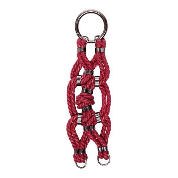 Bracelet en corde nouée Shibari bondage rouge bordeaux Figure of A chez Brigade Mondaine
