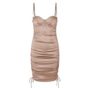 Встроенное обнаженное атласное платье нижнего белья с голой спиной OW INTIMATES на Brigade Mondaine