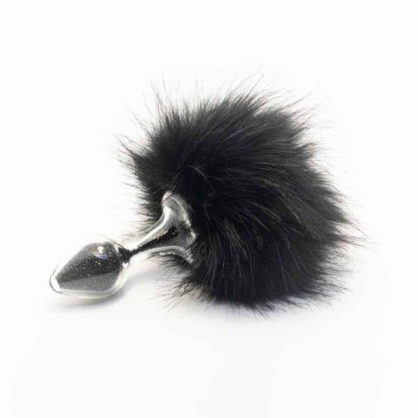 Съемный черный кролик анальный пробка Блеск в Боросиликатное стекло CRYSTAL DELIGHTS на Brigade Mondaine