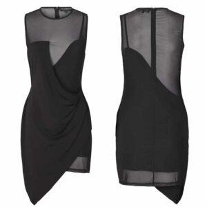 Черное платье JOSY с полупрозрачными ногами, бюстом и спиной от OW INTIMATES в BRIGADE MONDAINE