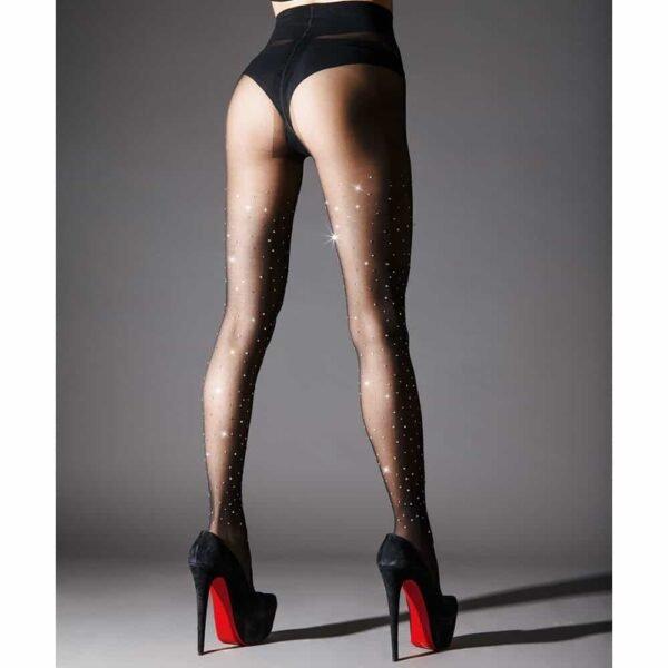 Black tights with Swarovski Crystal Eyez inlay