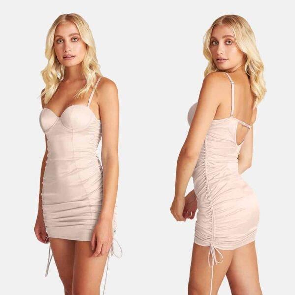 Vestido de lencería de raso desnudo con la espalda desnuda OW INTIMA a Brigade Mondaine