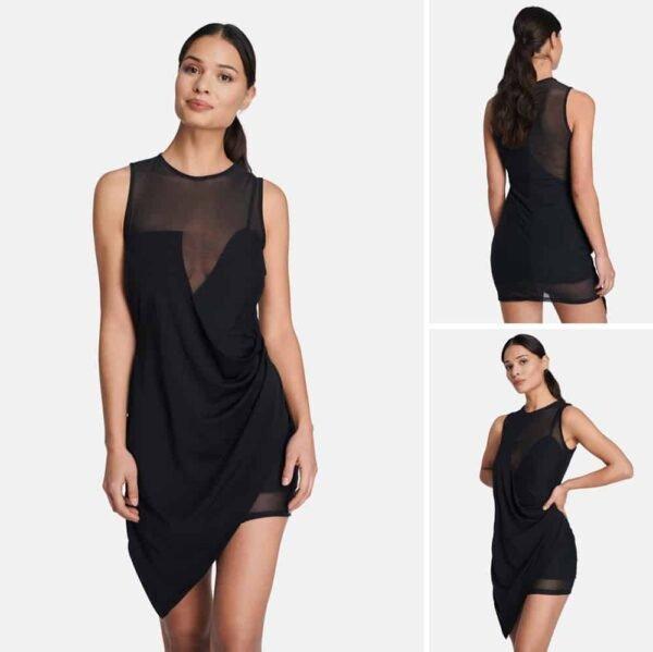 Короткое платье JOSY полупрозрачное на груди, спине и бедрах, OW INTIMATES на BRIGADE MONDAINE