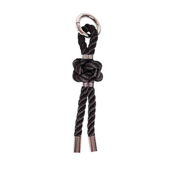 Porte Clé bdsm en corde noire