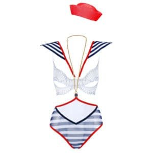 Costome de jeux de role de marinière bleu blanc et rouge pour vos roleplay