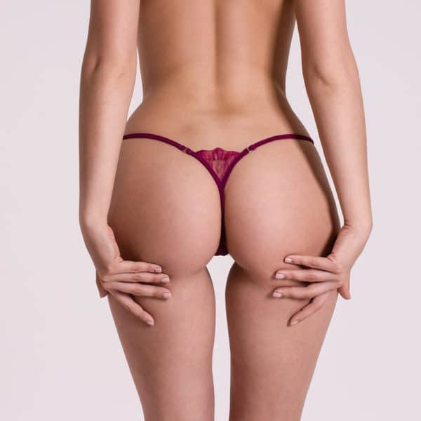 G-string Bijou Violet, very deep with rhinestone details