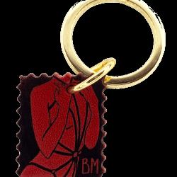Красное, черное и золотое кольцо-брелок DOMESTIQUE на BRIGADE MONDAINE