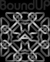Logo de la marque Bound Up gris et noir.